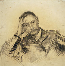 Pérez Galdós en un dibujo de Ramón Casas